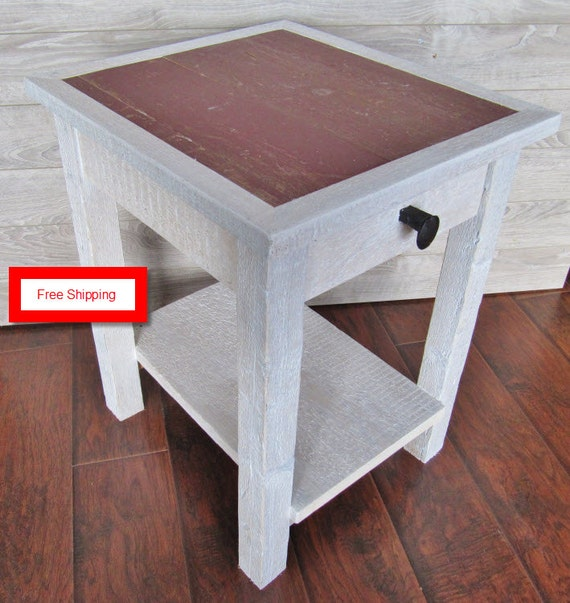 Items Similar To Reclaimed Wood Furniture End Table Made Of Reclaimed Wood And Very Rustic