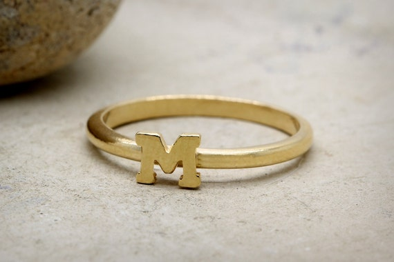 CHRISTMAS SALE M letter ring14k gold ringcustom