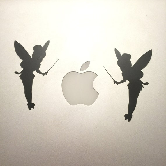 Tinkerbell silhouette vinyl decal applique and stencil disney for Tinkerbell stencil