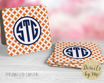Personalized Party Coasters, Paper coasters, Gift set, Hostess Gift