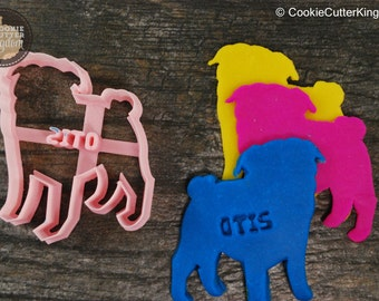 Custom Pug Cookie Cutter Personalized for your Pet!