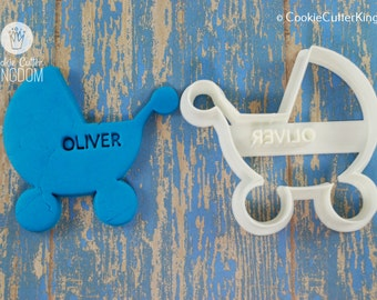 Custom Baby Carriage / Stroller Cookie Cutter Personalized for You!