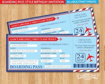 Boarding pass | Etsy