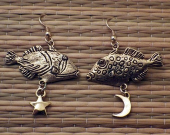 24K Gold Plated Fish Earrings