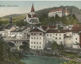 Murau - Steiermark.  Antique 1911 Used Color Postcard, Austria