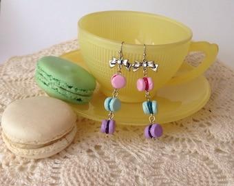 Charming Macarons dangle earrings