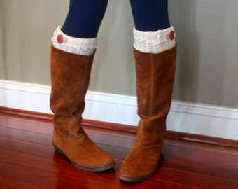 Upcycled Sweater Boot Cuffs with Matching Headband