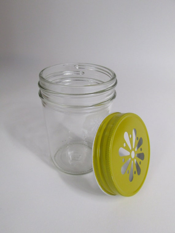 mason jar lids 12 daisy lids yellowparty jar lids