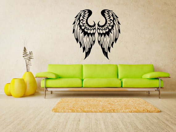 engel fl gel aufkleber angel wings aufkleber wand von. Black Bedroom Furniture Sets. Home Design Ideas