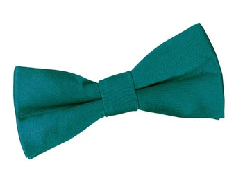 Satin Teal Boy's Bow Tie