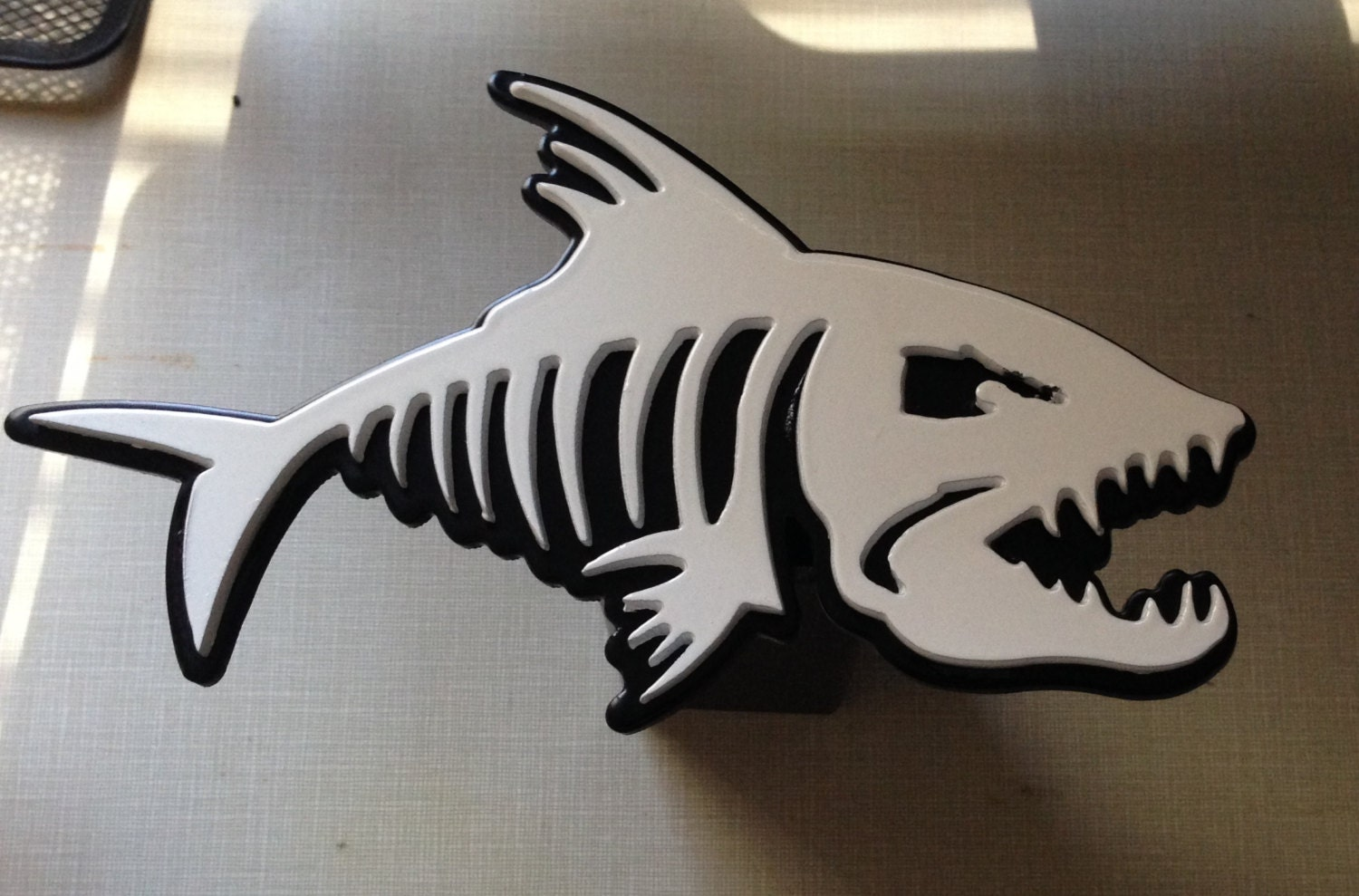 Custom angry fish hitch cover for Fish hitch cover