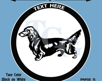 Dachshund - Long Haired -  Dog Personalized Black and White Vinyl Decal or Aluminum License Plate - #D043   FREE SHIPPING!!!