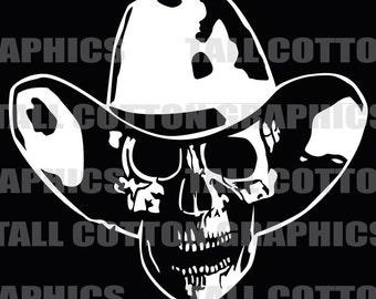 Cowboy Skull Vinyl Decal #SKL041