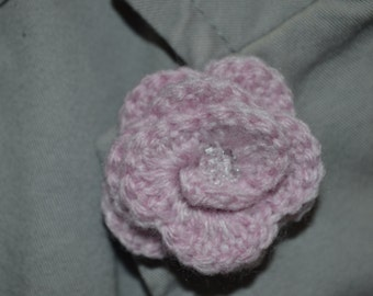 Hand made crochet flower corsage