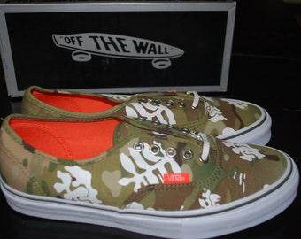 VANS  VAULT AUTHENTIC Aloha Camo Sneakers Skate Shoes size us Mens 9 / Womens 10.5 -eur 42
