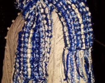 University of Kentucky Basketball Wildcat Knit Scarf - Blue Knit Scarf - Women's Accessories - UK Basketball Scarf