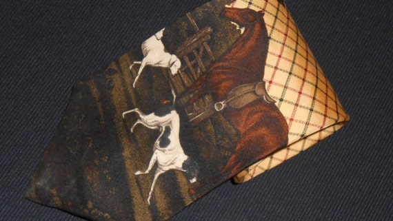 Vintage Polo Ralph Lauren Tie Horse Dog 100 By Thetieparadise