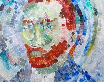 Van Gogh Mosaic Acrylic Painting 18x24