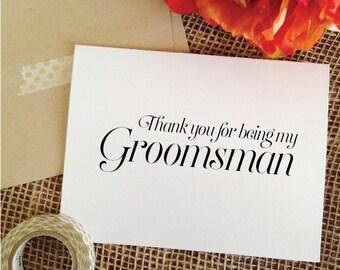 Set of 7 THANK YOU groomsmen card Groomsmen Gifts Thank you for being my groomsman Thank You Card Groomsmen thank you card (Sophisticated)