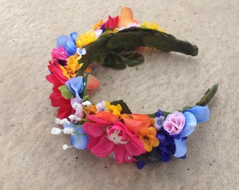 Whimsical Spring Flower Head band