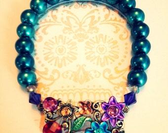 Rainbow Garden Bracelet in Pearl