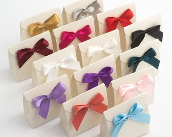 Satin Self-adhesive bow pack of 12