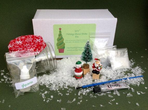 DIY Holiday Snow Globe Kit/snow globe/craft kit/holiday snow globe/Christmas snow globe/Christmas decor/Christmas ornament/holiday gift