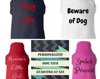 Custom Dog Tee/Personalized Dog Shirt/Create Your Own Puppy Tee/Dog Tshirt/Dog T Shirt/Doggie T-Shirt/Design Your Own Dog Shirt/Custom Shirt