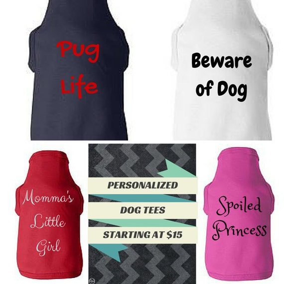 Large custom dog tee personalized dog shirt create your own Dog clothes design your own