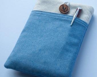 Cotton and fleece tablet case (iPad, Galaxy Tab, Kindle, Nook...)
