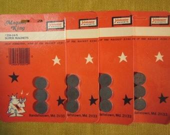 """4 pks of super magnets, 3/4"""" x 3/16"""", 12 magnets total, for crafts"""
