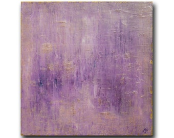 "ABSTRACT PAINTING Pink Purple XLarge Original Art, Oil on Canvas, 36"" X 36"", ""Reverie"" by N. Prutski"