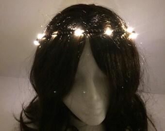 White LED festival rave halo crown