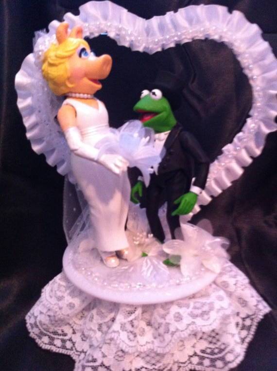 Kermit Miss Piggy Cake Topper