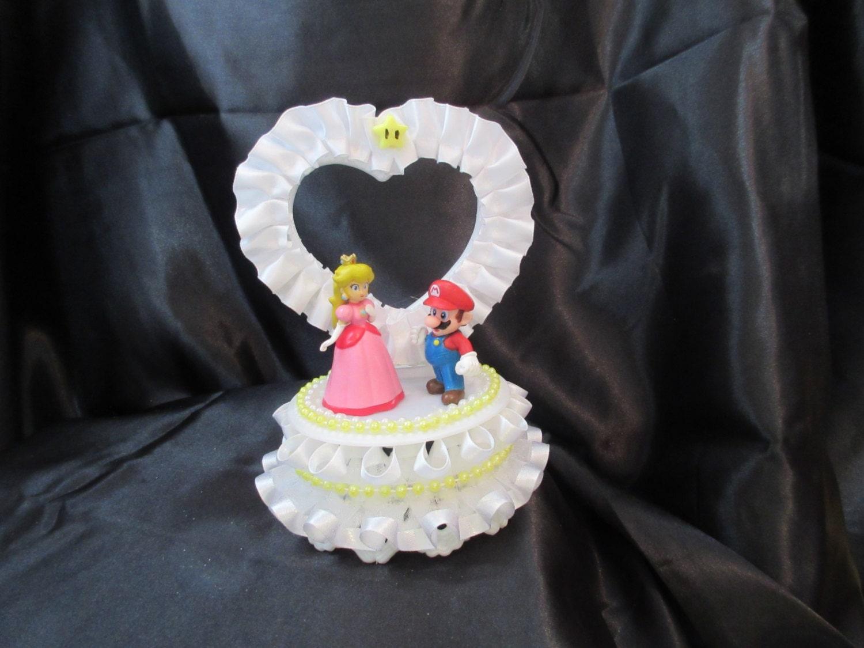 Princess Peach and Mario Wedding Cake by UniqueWeddinCreation