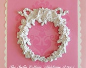 Shabby Cottage Chic Furniture Floral Appliques Wreath French Style Home Decor A1004