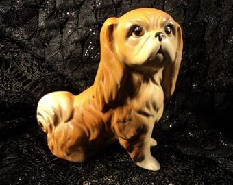 Vintage Pekingese Dog Statue Figurine