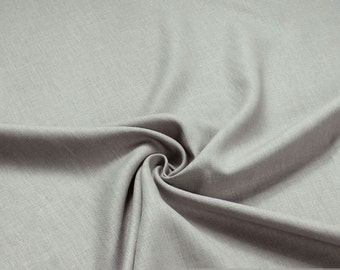 Fabric pure linen grey