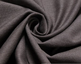 Fabric cotton cashmere herringbone flannel taupe very soft
