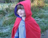 Childs play cape, cloak - hooded and reversible.  Dressing up, superhero / wizard / witch cloak.