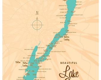 Lake George, NY Map Print