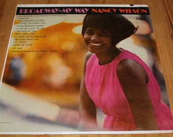 """RARE Nancy Wilson """"Broadway-My Way"""" Vinyl LP 1963"""