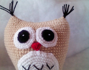 Owl doll : crochet,handmade,diy,owl,art,doll,idea,design,yarn,cotton,pattern,wedding,gift
