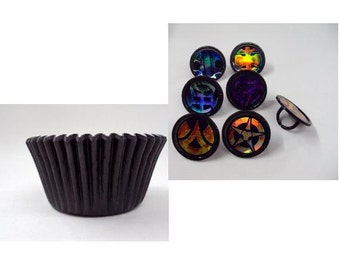 Bakugan Rings with Black Baking Cups