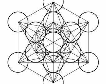 Metatron's Cube Sacred Geometry Self Adhesive Vinyl Decal Sticker