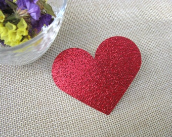 Glitter gold heart die cuts,Red heart die cuts,Large heart cut outs,Wedding decor,Glitter Red die cut,Gold heart tags,glitter hearts tags