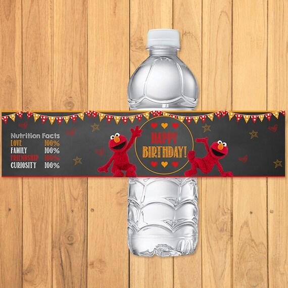Elmo Drink Label Chalkboard * Elmo Birthday Party * Elmo Water Bottle Label * Elmo Party Favors * Elmo Party