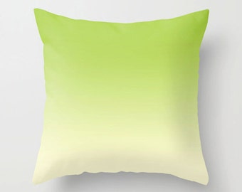 Throw pillow green yellow Decorative colorful modern design Home decor accent cushion Couch pillow (601)