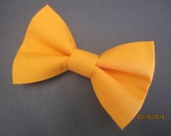 Men's light orange bow tie, real salmon bow tie, boy orange bow tie, solid orange bow tie. wedding bow tie, custom bow tie, orange bow tie