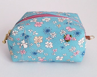 Pouch with Japanese patterns,Kimono pouch (Medium)